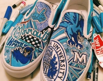 Monmouth University Custom Sneakers