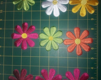 Beautiful embroider Aplique flowers