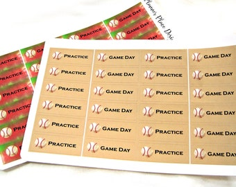 Planner Stickers - Baseball Stickers - Happy Planner Stickers - Day Designer - Functional Stickers - Game Day Stickers - Practice