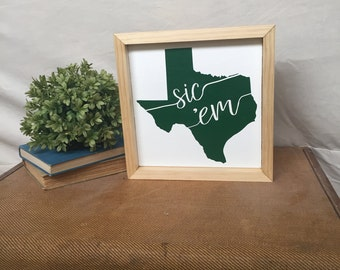 Texas Baylor Sign