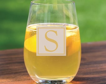 15 Personalized Stemless Wine Glasses - Wedding - Groomsman - Wedding Party - Bridal Shower - Engraved Gifts - Custom Etched - Maid of Honor