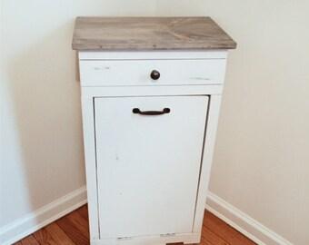 Trash Can Cabinet, Trash Bin Cabinet, Garbage Can Cabinet, Tilt Out Trash  Bin