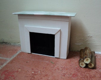 Miniature fireplace, 1:12th scale