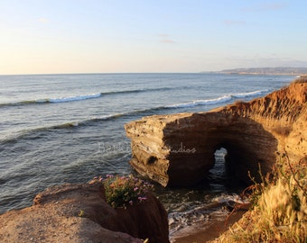 Sunset Cliffs Natural Bridge; San Diego, California; Wall art; Poster; Travel Photography; living room; bedroom; bathroom; beach house