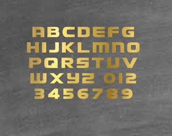 Geaux Block Alphabet