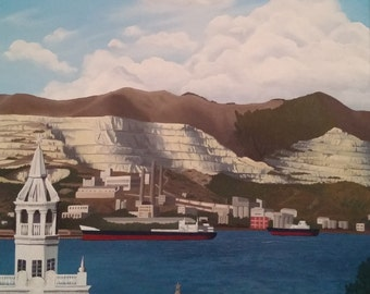 Oil painting on canvas. Novorossiysk.