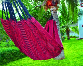 Colombian Artisan Hand-Woven Hammock without Fringe 100% Cotton