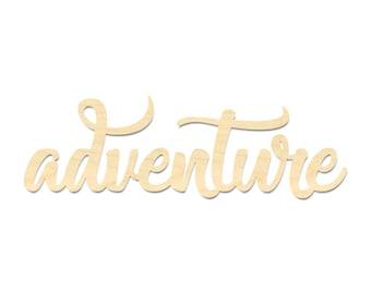 Adventure Wording Sign- Adventure Cut Out Wording