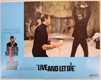 Vintage Live And Let Die James Bond 007 Original Lobby Card #6 1973