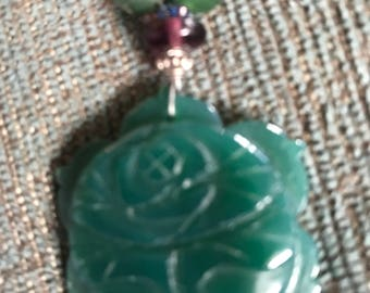 Lotus Necklace with beads