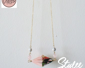 Duet Origami Necklace