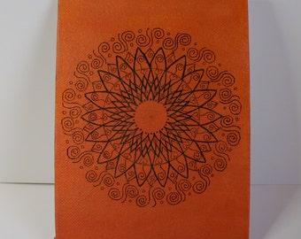 Orange Mandala, Mandala, Folk Art, Orange