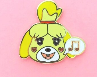Isabelle's Sweet Song Enamel Pin