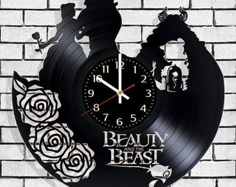Clock on the wall Beauty and the Beast, wall poster