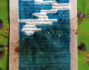 Blackout Poetry -  Soon (Dealing with Blue) - Art and a Donation to AHA