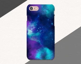 Space Galaxy Phone Case, iPhone 6S Case, Blue iPhone 7 Stars Case, Purple iPhone 6 Space Phone Case, iPhone SE case, Outer Space Case Galaxy