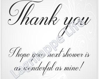 Bridal Shower Hostess Thank You Gift Tag Digital Download