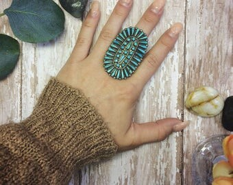 Sterling Silver NAtive American Zuni Ring