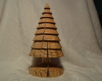 Spalted maple christmas tree
