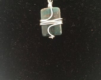 Mixed Turquoise Square Wire Wrapped