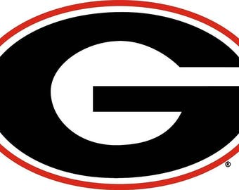 Georgia Bulldogs  Cornhole Decals / SET of 2   #4