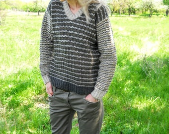 Warm knitted pullover