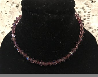 Swarovski Purple Passion Set of THREE Crystal Bead Bracelets!!!