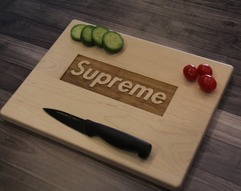 Personalized Cutting Board Cutting board Wedding gift SUPREME cutting board Wedding Gift Kitchen decor Gift for couple SUPREME inspired