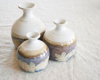 3-in -1 Vintage Ceramic Vase / Candle Holder
