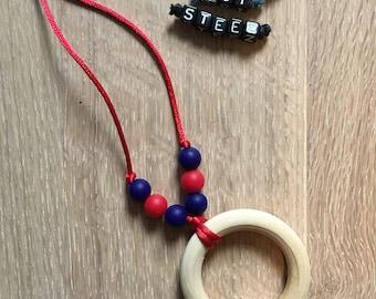 Nautical ring teething pendant