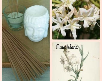Incense scent white musk stick to natural essential oils - cover of 20 sticks