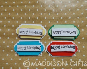 Happy Birthday Card Topper Embellishments Birthday Sentiment Scrapbooking Paper Craft Supplies