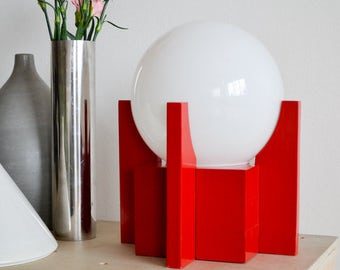 Orb Lamp Modern Red Unique