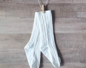 Classic White Knee-High Stockings/Socks for Baby/Toddler