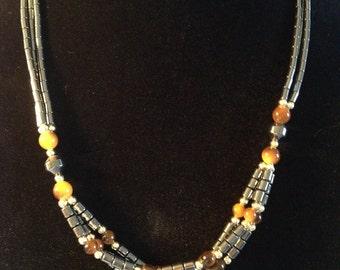 Black Multi-strand Vintage Necklace