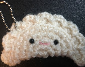 Amigurumi (Crocheted) Dumpling Keychain