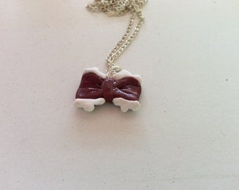 Cute lace bow necklace with FREE shipping!