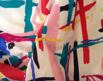 Silk Scarf / Abstract Colors