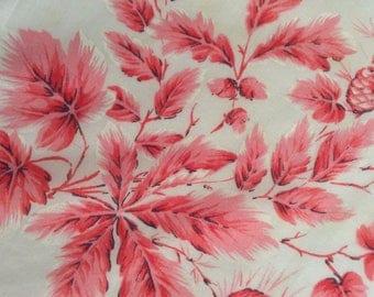 Vintage Handkerchief / Red Oak