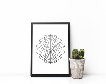 Triangles Printable Art, Geometric Print, Minimalist Print, Neutral Color Print, Scandinavian Wall Art, Geometric Poster, Nordic Print,