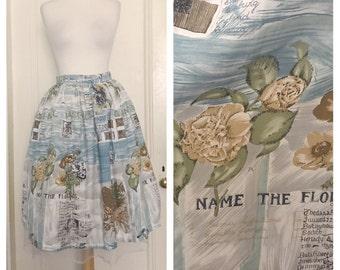 Vintage 50's Floral Novelty Skirt