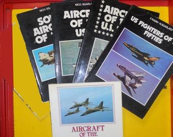 lot 5 books AIRCRAFT WAR (U.S.A.F.,Soviet,Navy) '78 '79 '80 vintage libri guerra