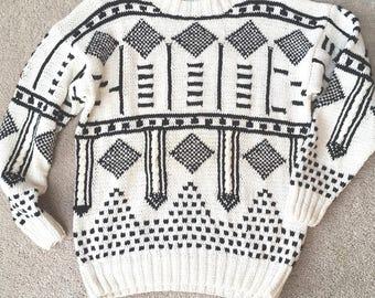 Vintage Knit Sweater - L