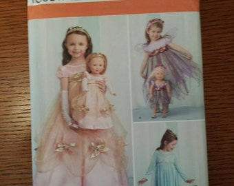 simplicity child costumes and costumes for 18' doll pattern