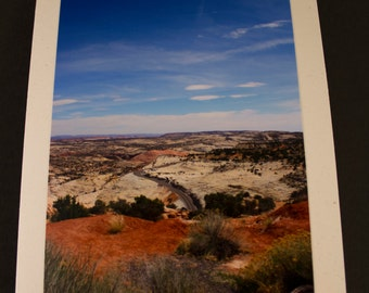 Desert Road Photo Greeting Card