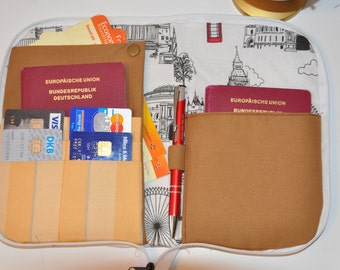 "Travel case document bag ""London"""