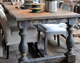 Rustic Shabby Chic Dining Table (Contact for Shipping Quote)