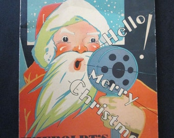 Original 1930s Rare Hello Merry Christmas Advertising Booklet Wieboldt's A Vintage  booklet for younger people with games etc