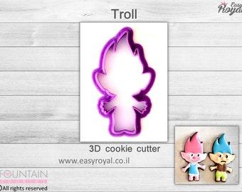 Troll - 3D cookie cutter