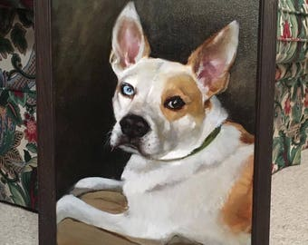 Oil on canvas Pet Portrait